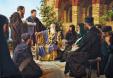 Климент Охридски беседва със свои ученици