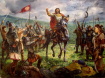 Кан Крум след победата над византийците при Върбишкия проход