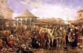 Пазар в Пловдив - картина на Иван Мърквичка