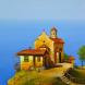 Църква на брега - картина на Бончо Асенов