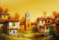 Църква - картина на Бончо Асенов