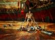 Спартак на арената - картина на Васил Горанов