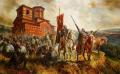 Въстанието на Асен и Петър - картина на Васил Горанов
