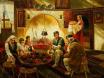 Край софрата - картина на Васил Горанов