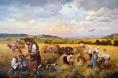 Жътва - картина на Божидар Чантарски